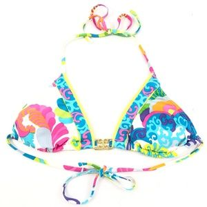 Trina Turk Multi-color Triangle Bikini Top